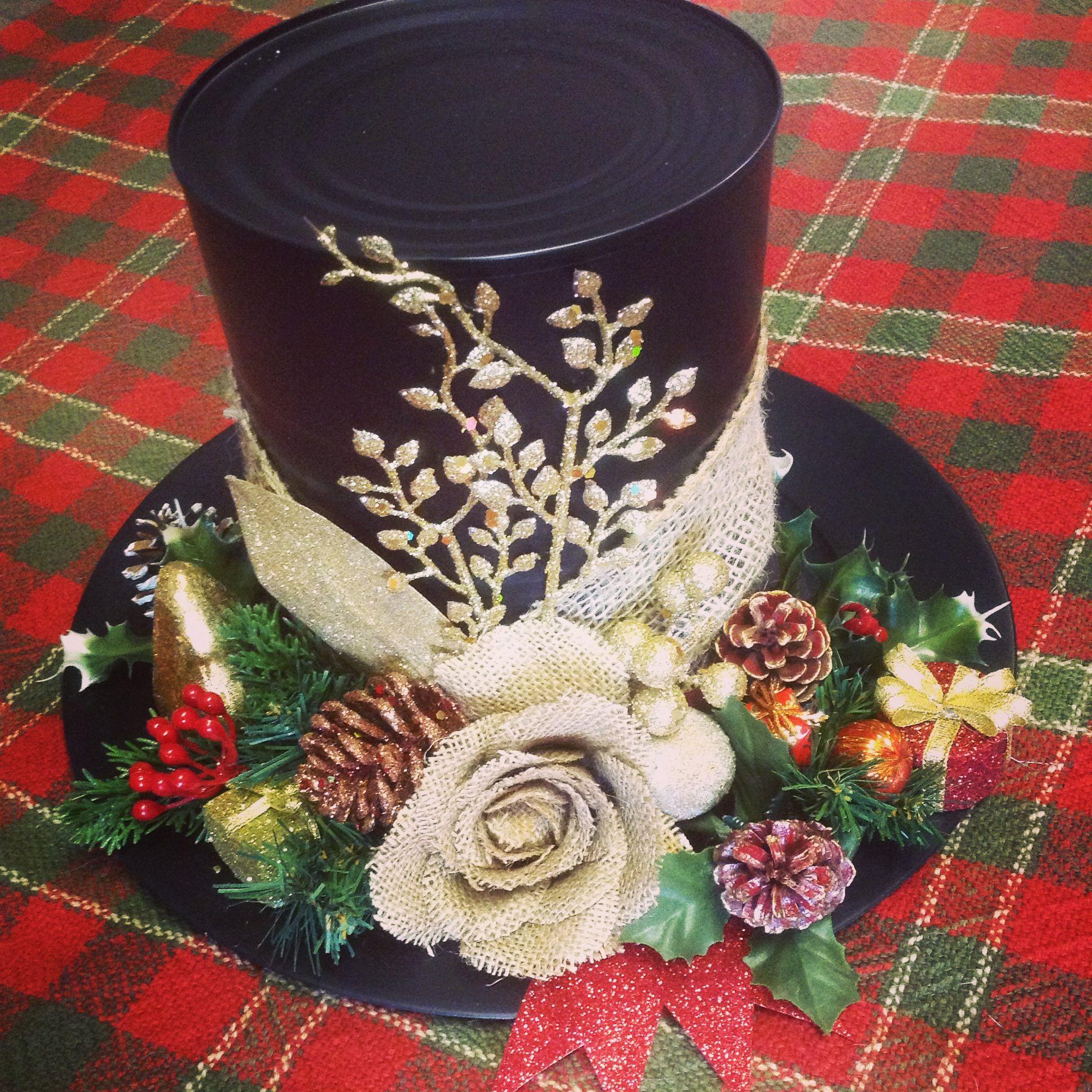 Coffee can snowman hat did it myself pinterest