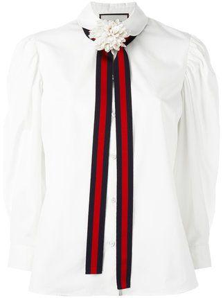 154f9de96 Collar Liston. | vale | Gucci shirts, Bow shirts y Tie neck blouse