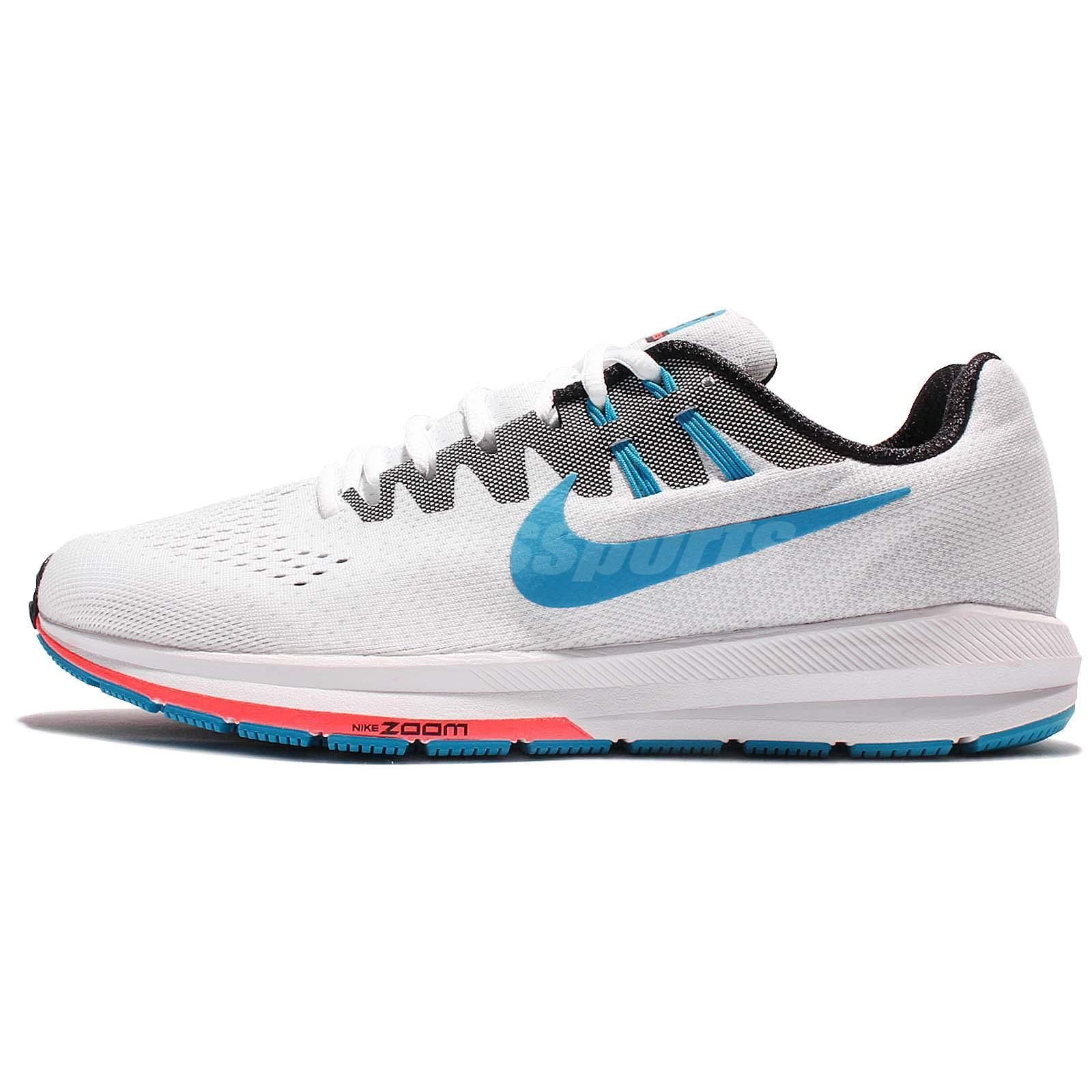 b1d0de44b0964 Nike Air Zoom Structure 20 Anniversary White Blue Men Running Shoes  849580-100
