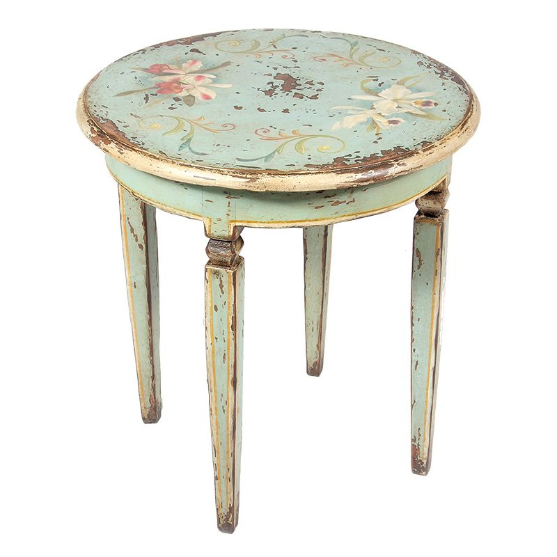 Pleasant Distressed Floral End Table Painted Furniture Shabby Home Interior And Landscaping Palasignezvosmurscom