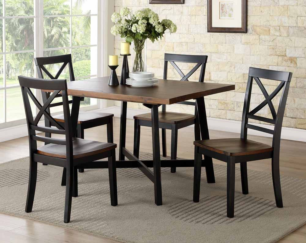 Amelia Noir 5 Piece Dining Set American Freight Dining Room Sets Furniture Dining Table Formal Dining Room Sets