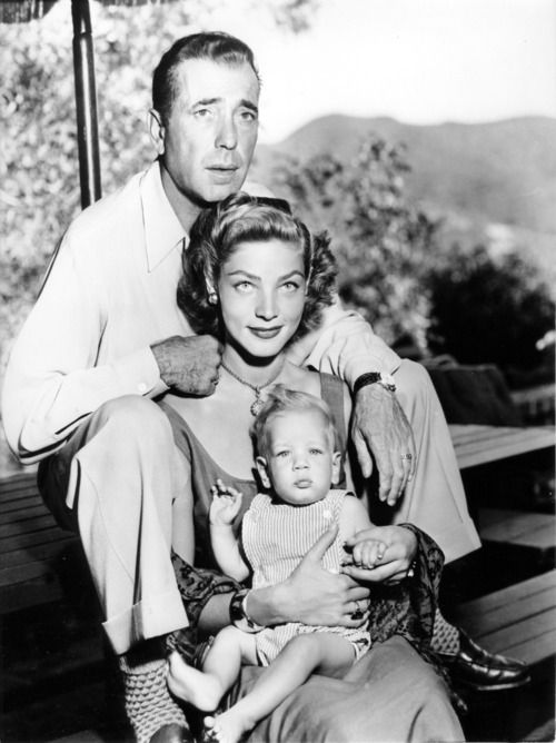 Humphrey Bogart, Lauren Bacall and their son, Stephen. Lauren. 9-16-1923 to 8-12-2013 Lauren Bacall died today at the age of 89