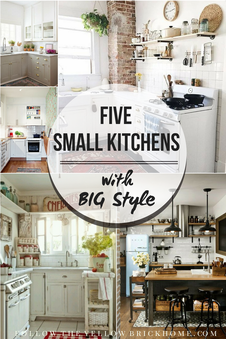 Five Small Kitchens With Big Style Maximize Space In A Small Kitchen Kitchen Remodel Small Small Room Design Small Kitchen Counter