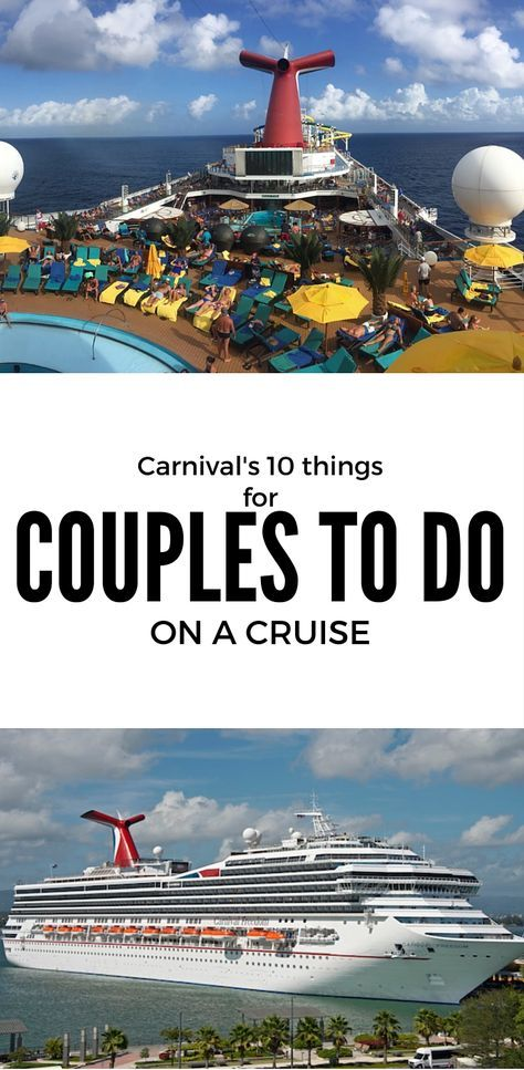 Carnival Cruise Gives Couples '10 Things To Do