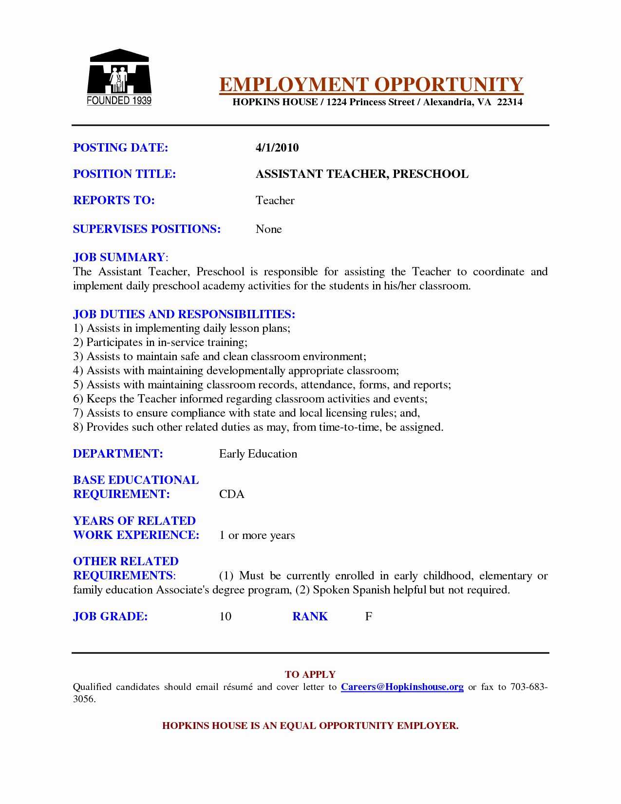 Grabbing Your Chance With An Excellent Assistant Teacher Resume Teacher Resume Examples Teaching Resume Teacher Resume