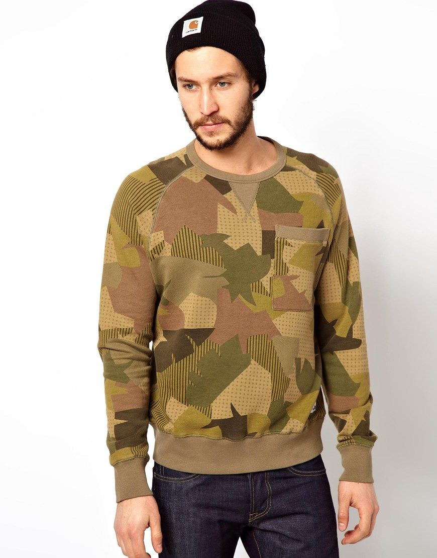 Penfield penfield sweatshirt with camo at asos guy style