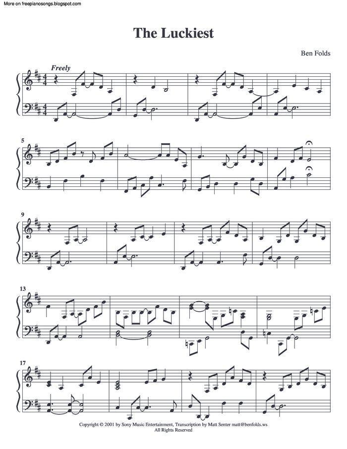 ben folds sheet music