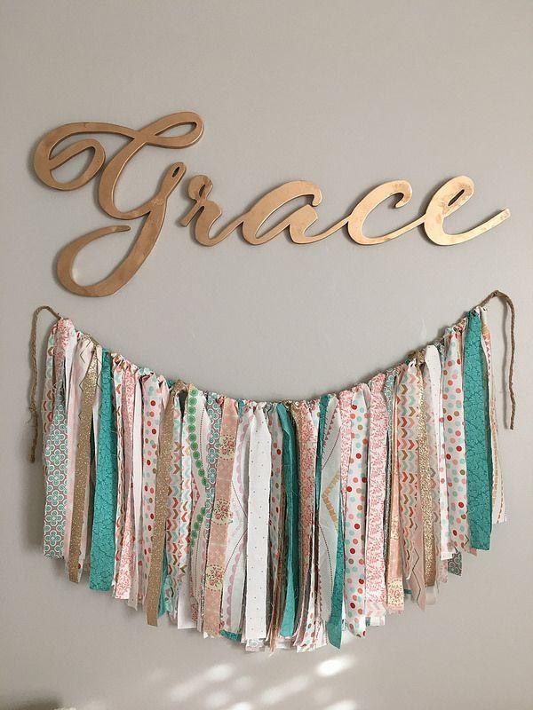 Goodwillista Grace S Nursery Diy Banner Baby Girl