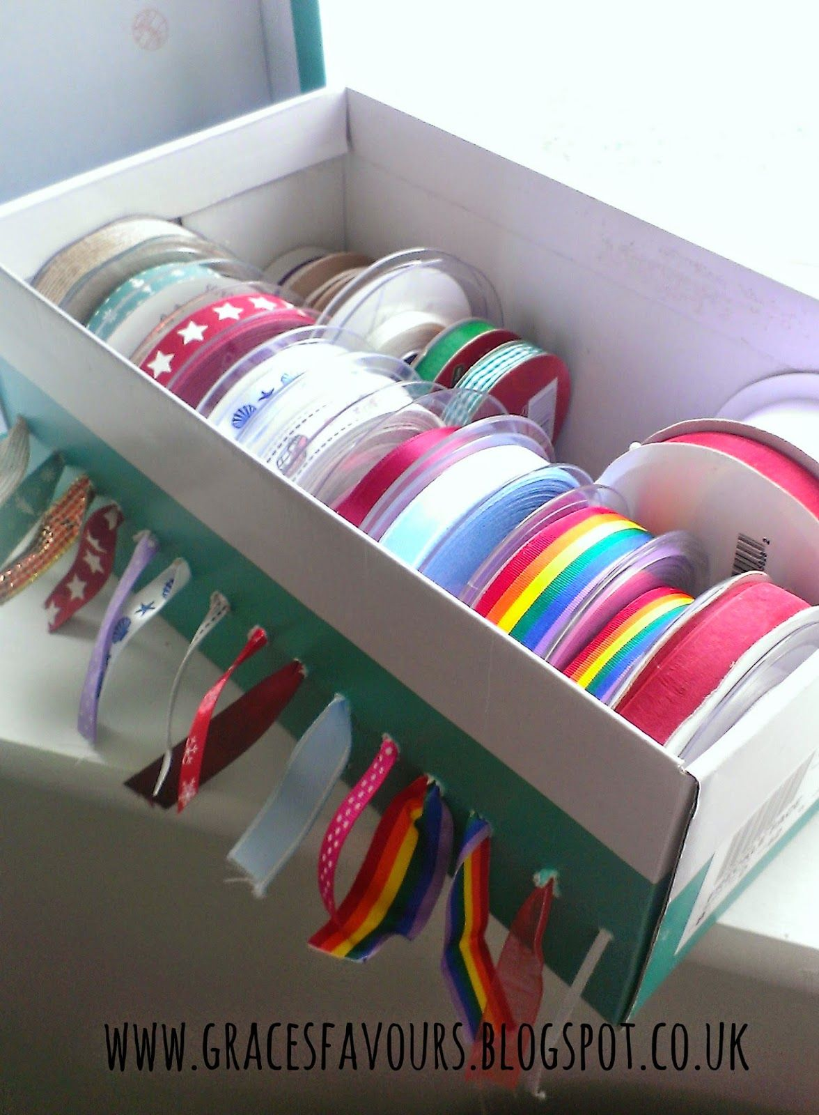 A Tutorial to show How to Make a Ribbon Storage Box for your Craftroom & How To Make Ribbon Storage For Your Craft Room - Tutorial by www ...