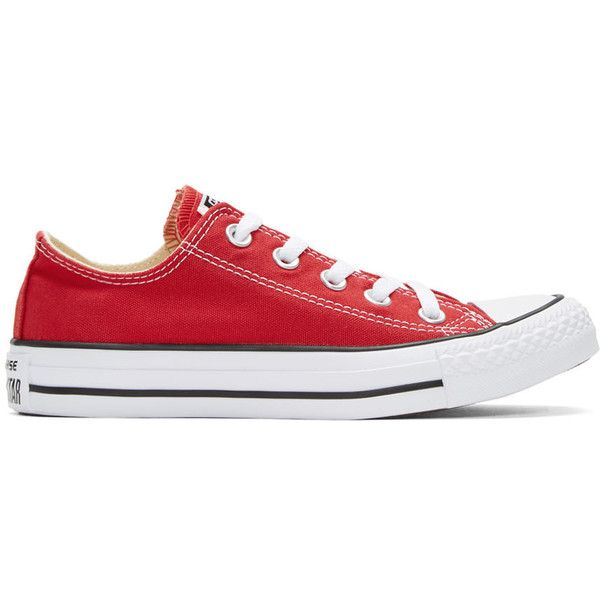 1f5f85b353e3 Converse Red Classic Chuck Taylor All Star OX Sneakers (928.310 VND) found  on Polyvore
