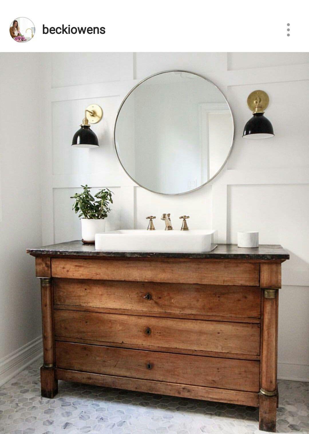 Bathroom vanity Wood Panel BathroomVintage