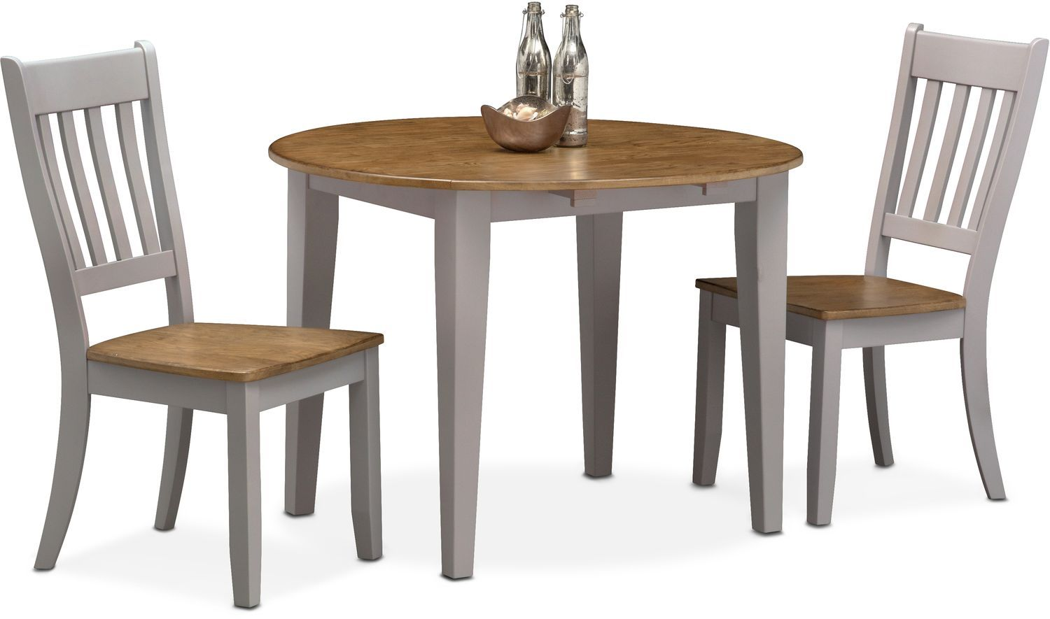 Nantucket Drop Leaf Dining Table And 2 Slat Back Dining Chairs