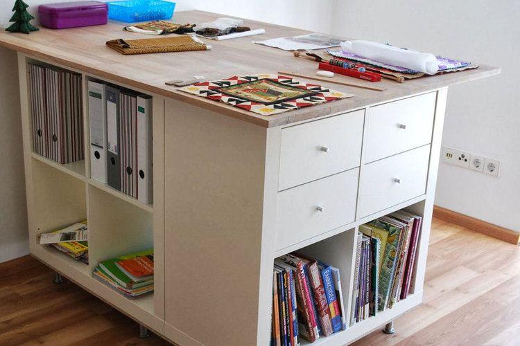 Ikea Hackers 20 Idees Pour Relooker Vos Meubles Ikea Table De Couture Tables De Decoupe Atelier Couture Amenagement