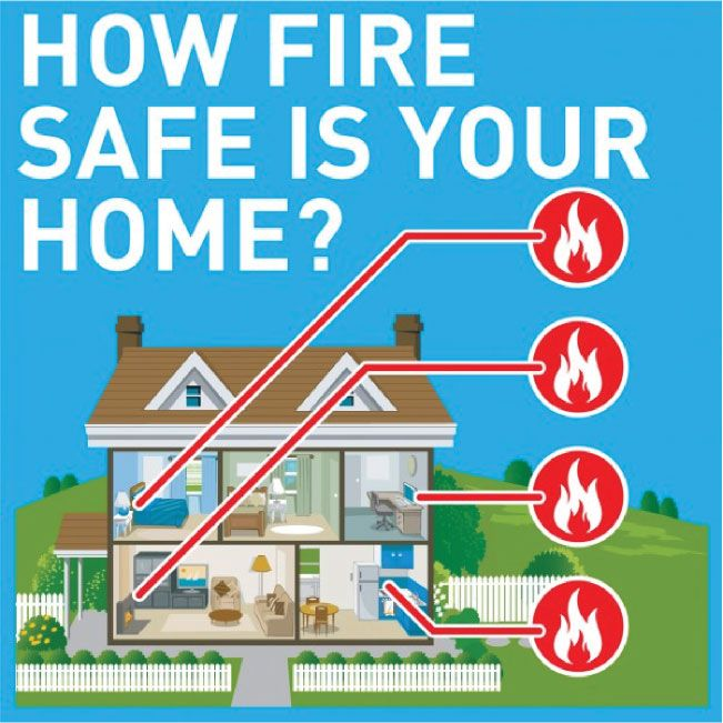 Five fire safety tips how fire safe is your home for Fire prevention tips for home