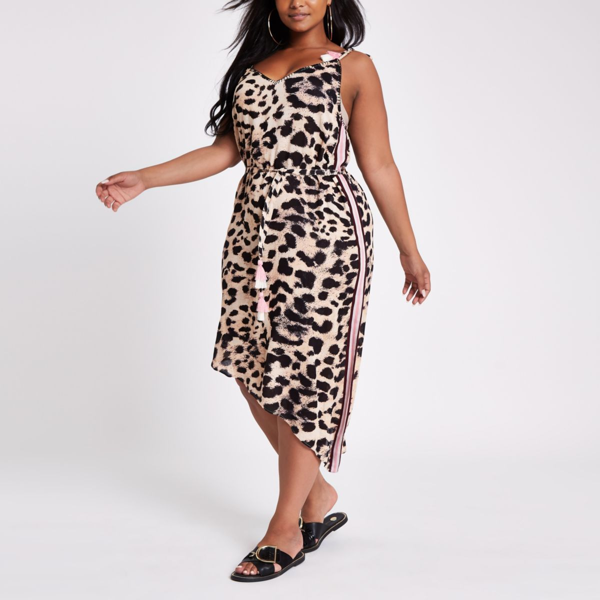 3b69dd1084 Plus brown leopard print beach dress - who cares it's a cover up... this is  dope!