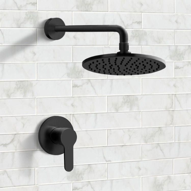 Matte Black Shower Faucet Set With 8 Rain Shower Head In 2020