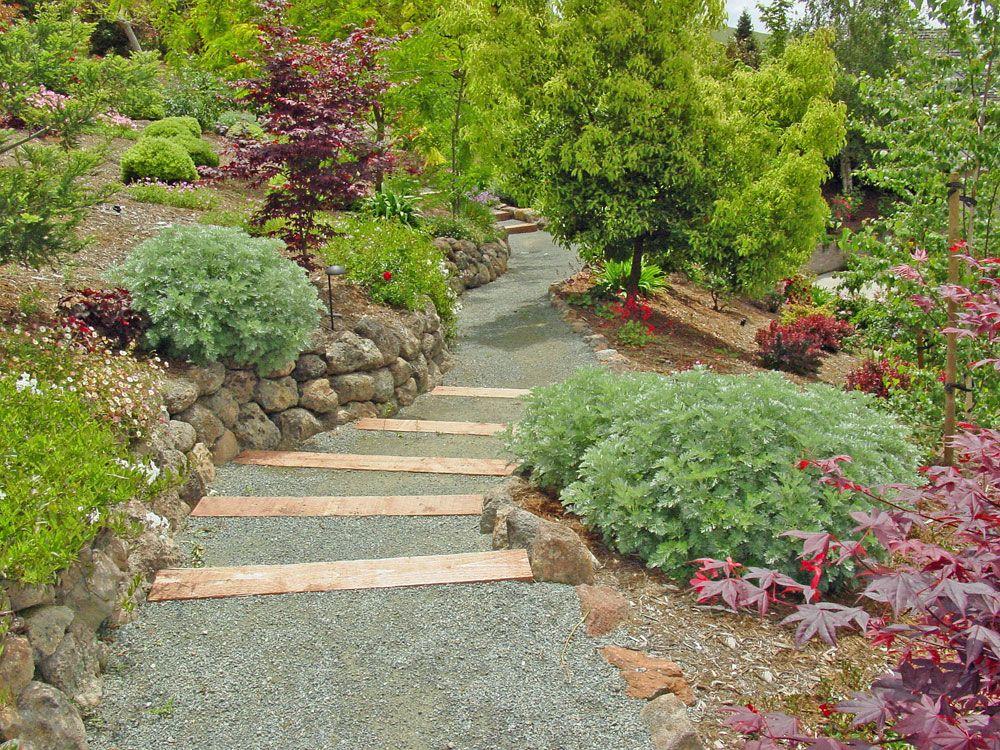 Landscape Landscape Hills Made To Look Around The Flower Garden Filled With Beautiful Flowers And Beau Landscaping With Rocks Gravel Landscaping Garden Design