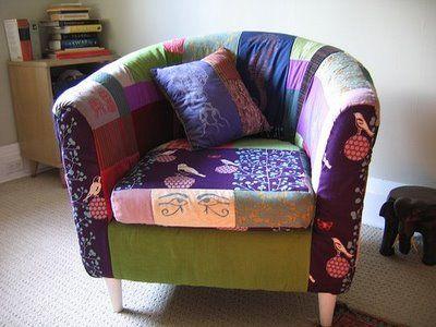 Tullsta.  fauteuil recouvert en patchwork