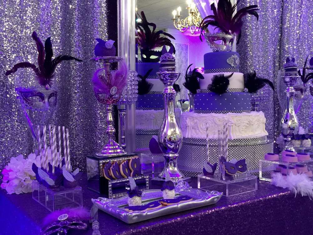 Masquerade quincea era party ideas masquerades sweet 16 for 15th birthday party decoration ideas