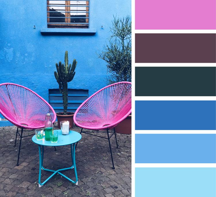 Welche Farbe Passt Zu Pink Und Blau Aubergine Anthrazitgrau Farbpalette Blau Welche Farbe Farben