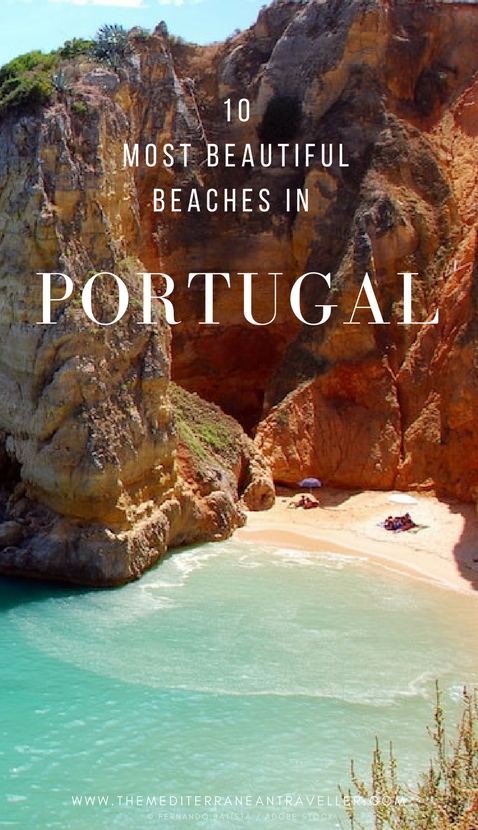 Portugal is home to mile upon mile of truly epic beach scenery, but which are the best? Here are 10 of its most beautiful beaches to get you started, from the top spots of the Algarve to wilder shores and surf of the Atlantic coastline, the postcard-worthy fishing village of Carvoeiro, the striking waterfront chapel of Miramar, and unusual red cliffs at Falesia. #portugal #beach #europe #portugal