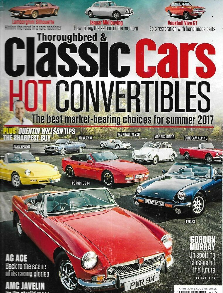 Thoroughbred And Classic Cars Auto Magazine Convertibles Jaguar