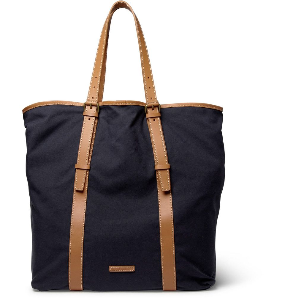 paul smith men's leather and canvas tote. I could buy this for the ...