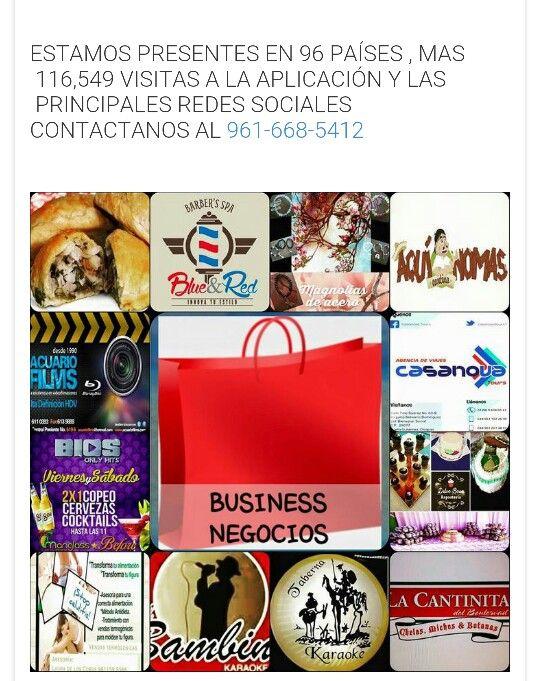 Tu como ellos anunciate con nosotros y has q tu negocio sea visto en más de 90 países y en todas las redes sociales, contactanos 9616685412 Box App tu mejor opción y tu mejor agencia de publicidad.
