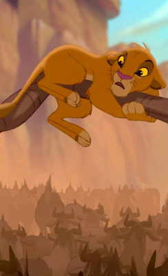 Lion King Simba During The Stampede Scene Lion King