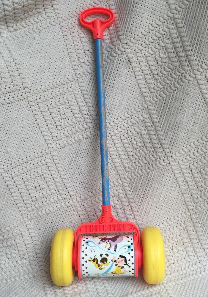 Vintage fisher price pull toy, blonde cheerleader sexy