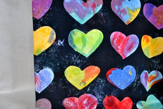 Colorful hearts by IreneSilk on Etsy