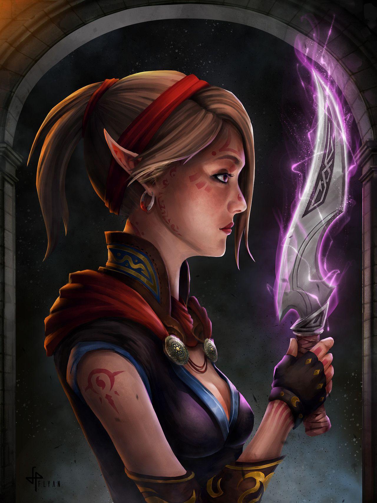 Elfgirls Half Elf Assassin By Flyan Tan Rogue Pinterest