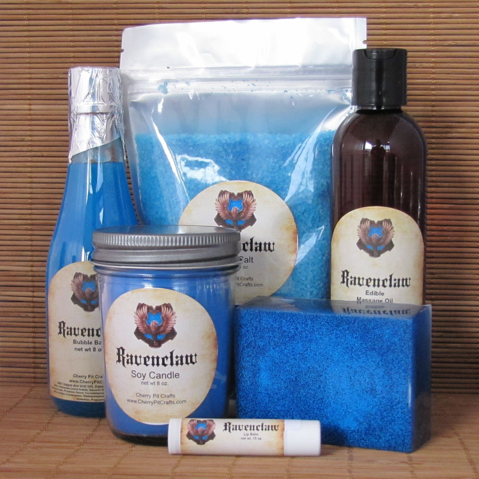 Harry Potter Themed Ravenclaw Gift Set - Bath Salt, Soy Candle ...