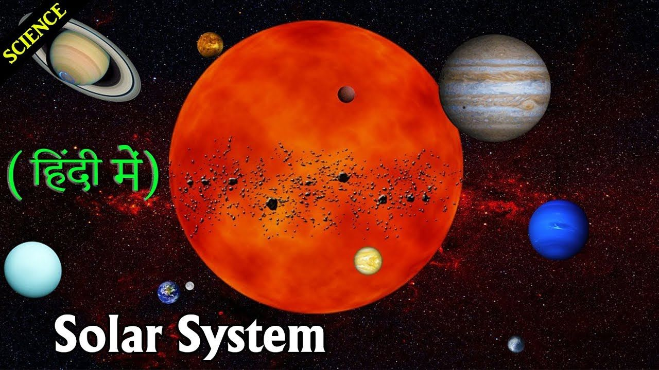 सर मडल सरमडल क गरह Science Solar System with animation
