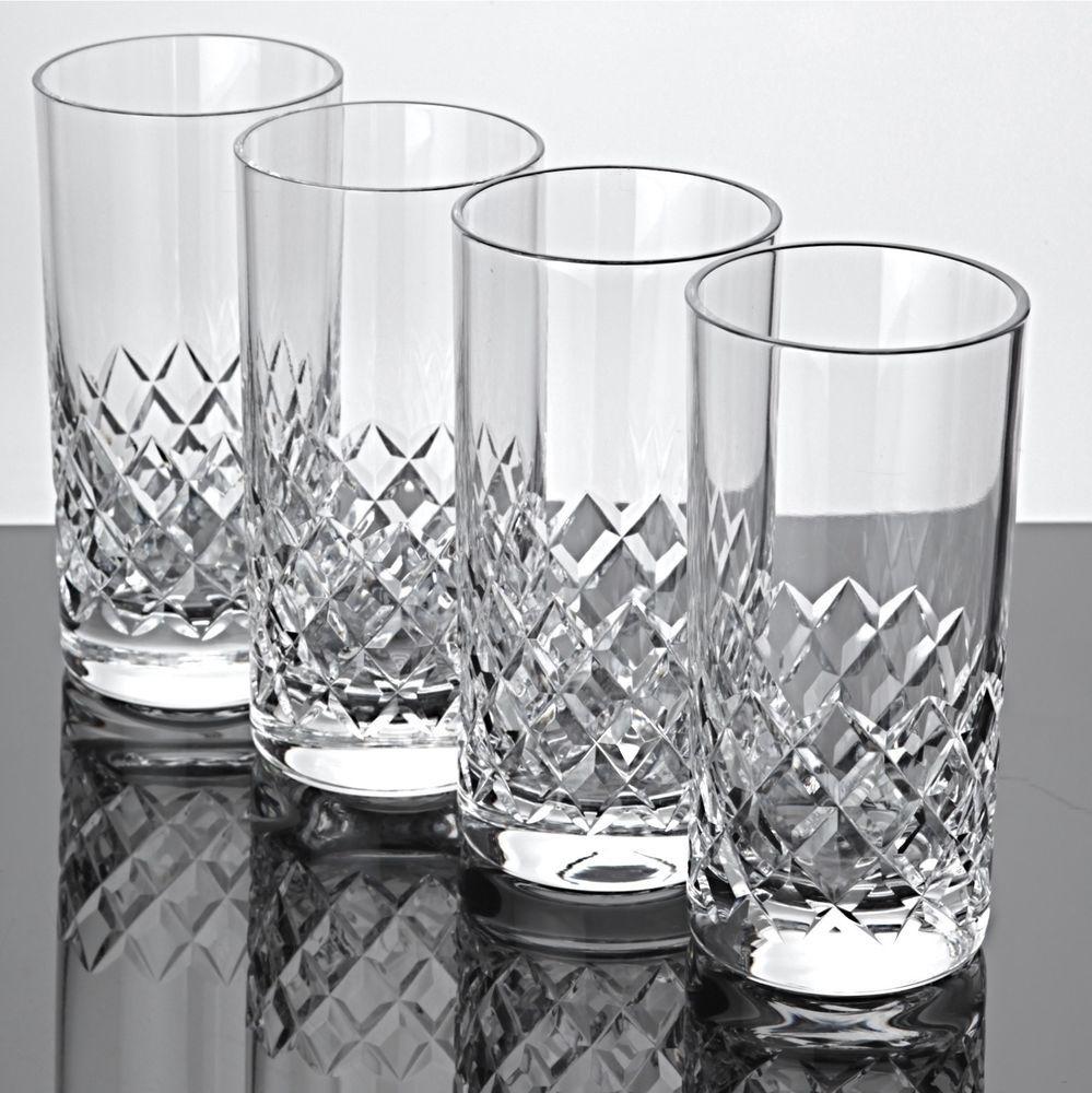 Wassergläser 4 becher gläser waffel schliff kristall saftgläser wassergläser