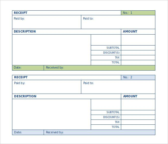 Word Receipt Template Download Free