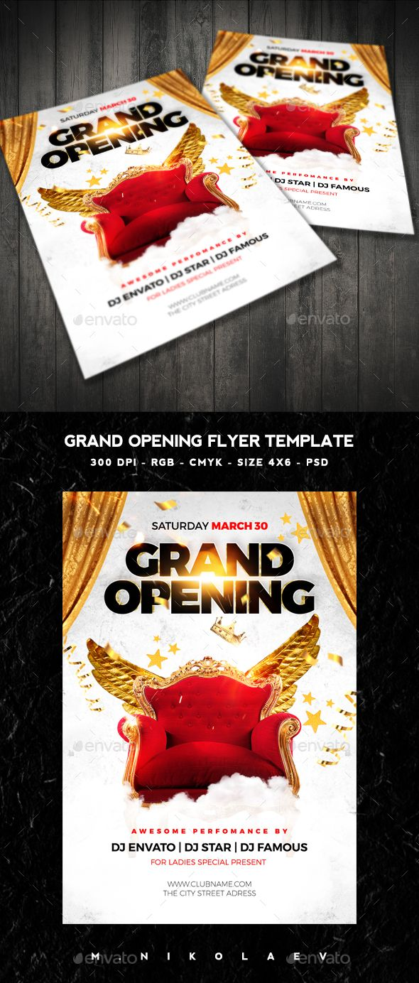 Grand Opening Flyer  Grand Opening Flyer Template And Flyer Size