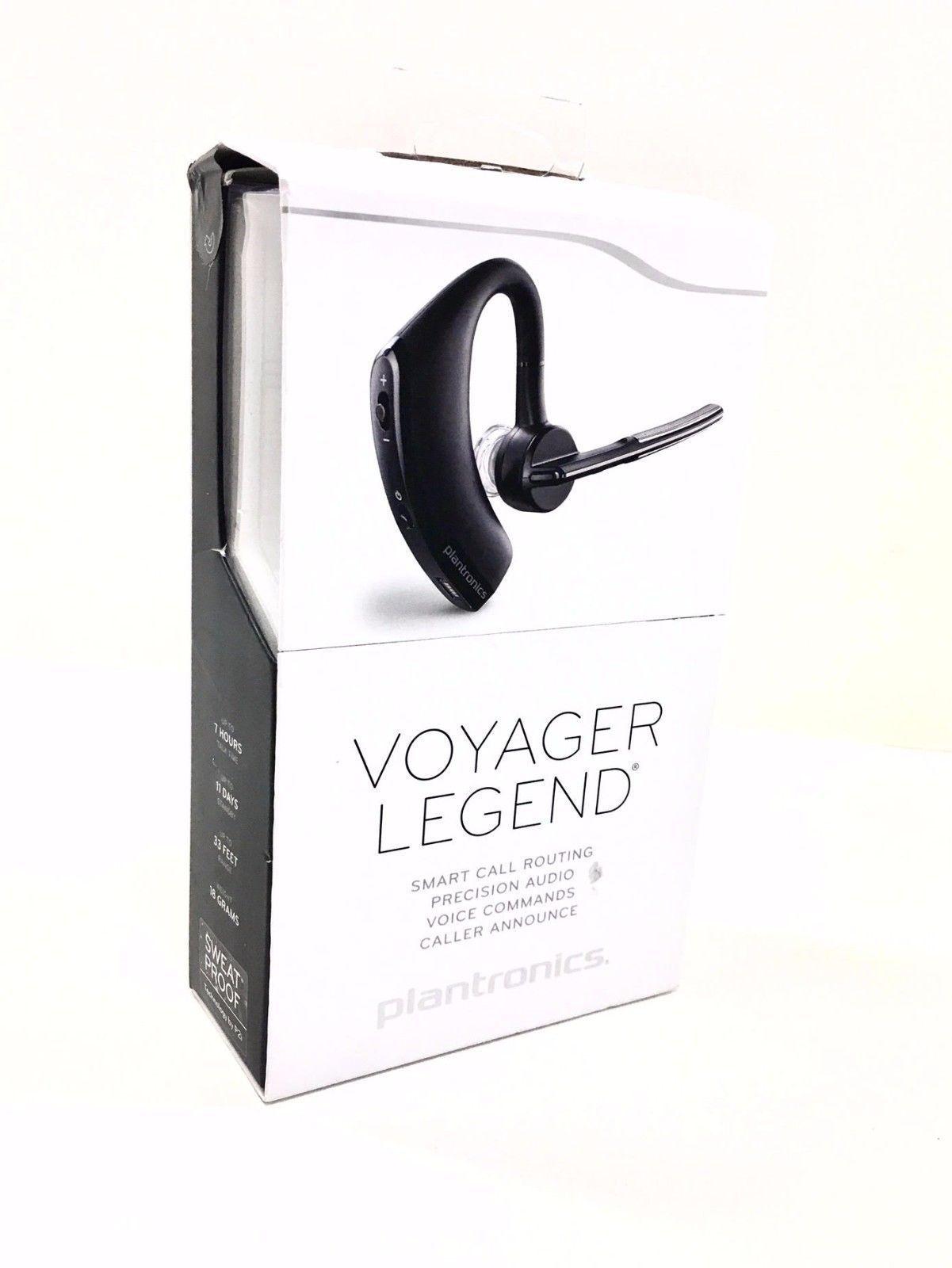 Nice Plantronics Voyager Legend Bluetooth Headset W Voice Command Black Retail Plantronics Bluetooth Headset Legend