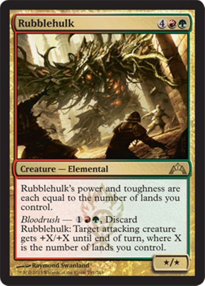 mtg red green deck gruul ruric thar magic the gathering rare cards