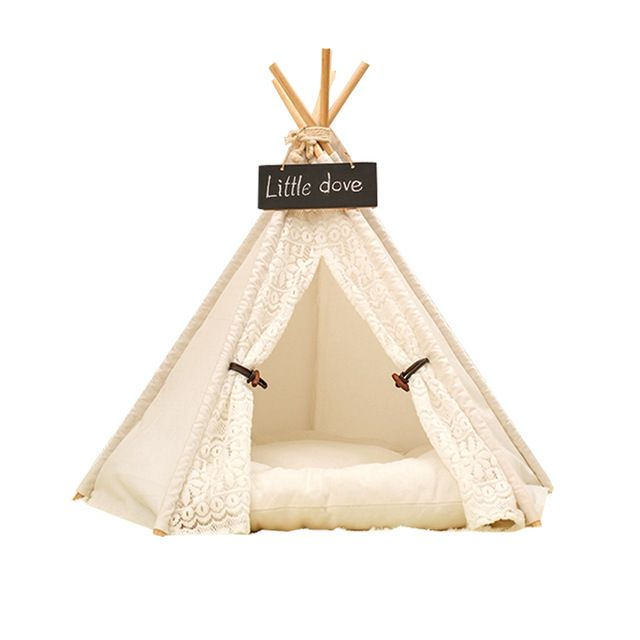 Free Lovewhite lesi design Pet Kennels Pet Play House Dog Play Tent Cat Dog Bed with cushion ** You can get additional details at the image link.  sc 1 st  Pinterest & white color Pet tent / Pet bed / Dog bed / Cat bed / Teepee tent ...
