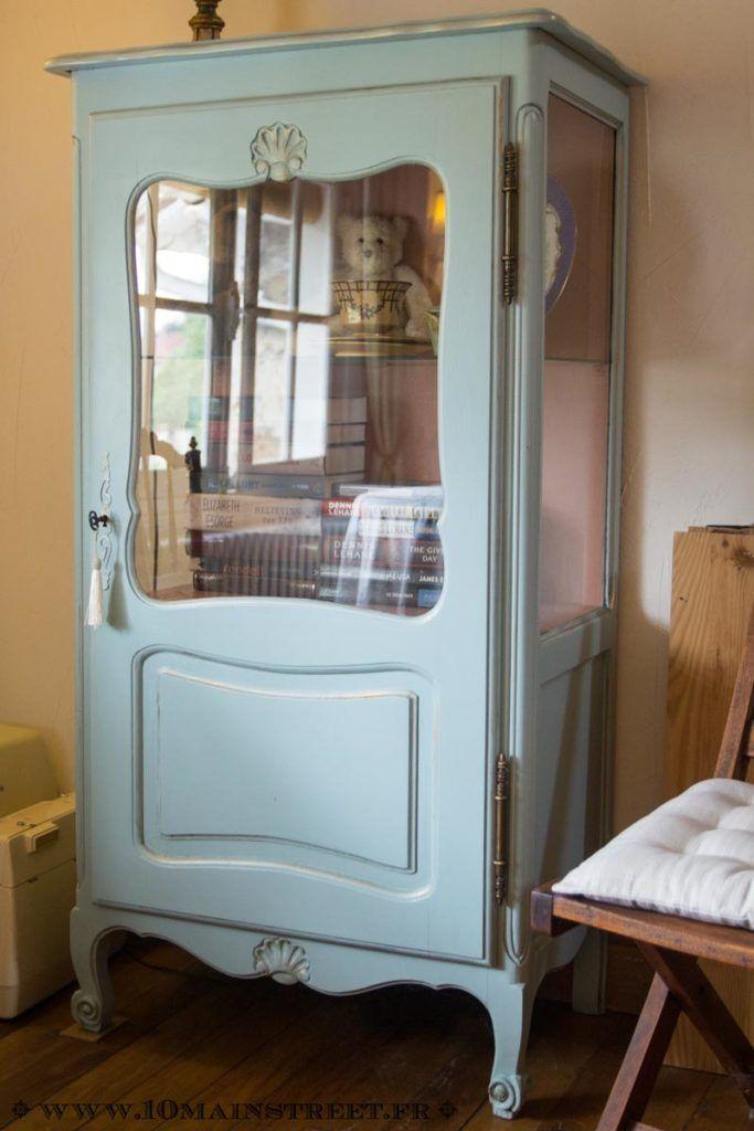 De l\u0027ombre à la lumière  une vitrine acidulée toute rénovée Diys - Repeindre Un Meuble En Bois Vernis