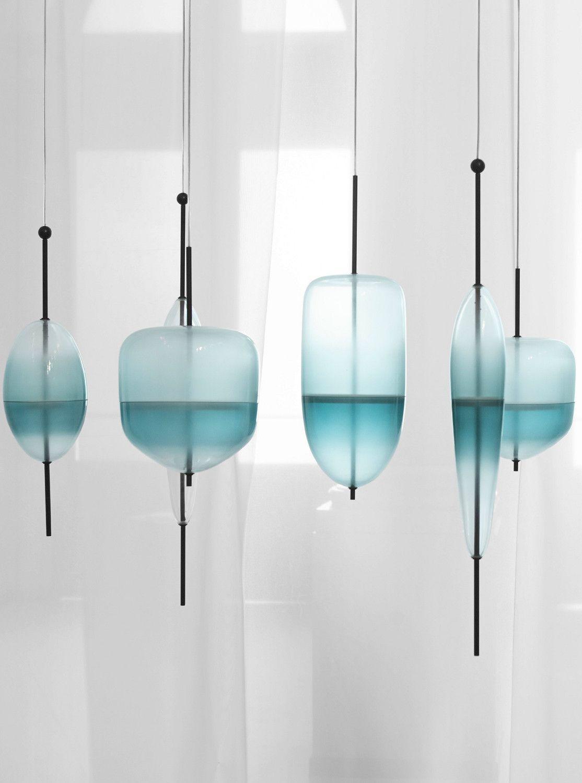 murano glass pendant lamp flow t by gallery s bensimon design nao tamura objectes. Black Bedroom Furniture Sets. Home Design Ideas