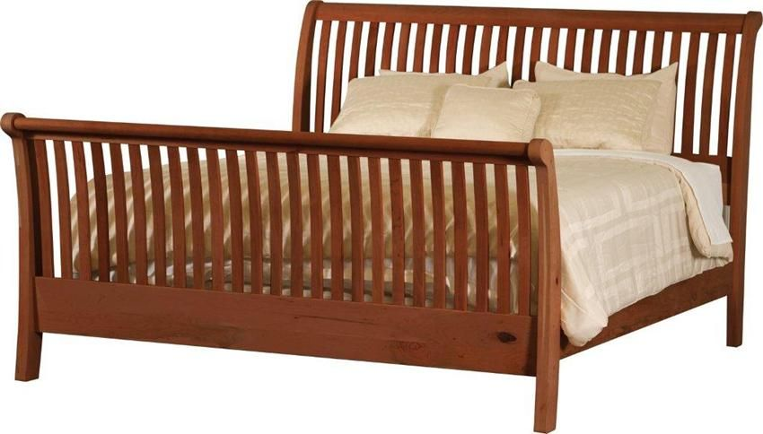 Amish Slatted Sleigh Bed Amish Beds 1021 Moveis