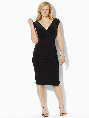 5b46100555ae Gathered Empire-Waist Dress - Short Dresses Dresses - RalphLauren.com