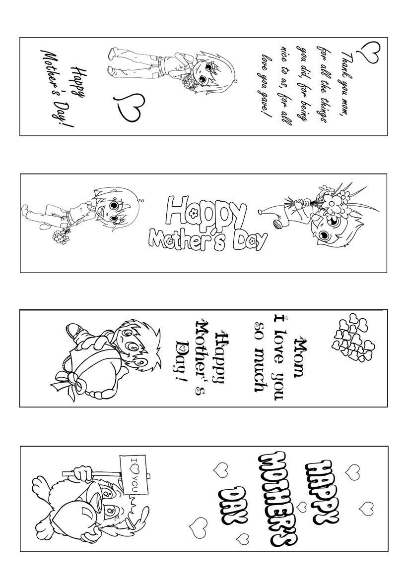 Free printable coloring pages mothers day - Showing You 10 Creative Inexpensive Yet Meaningful Mothers Day Gifts For Your Mother Mother S Day Bookmark Coloring Page