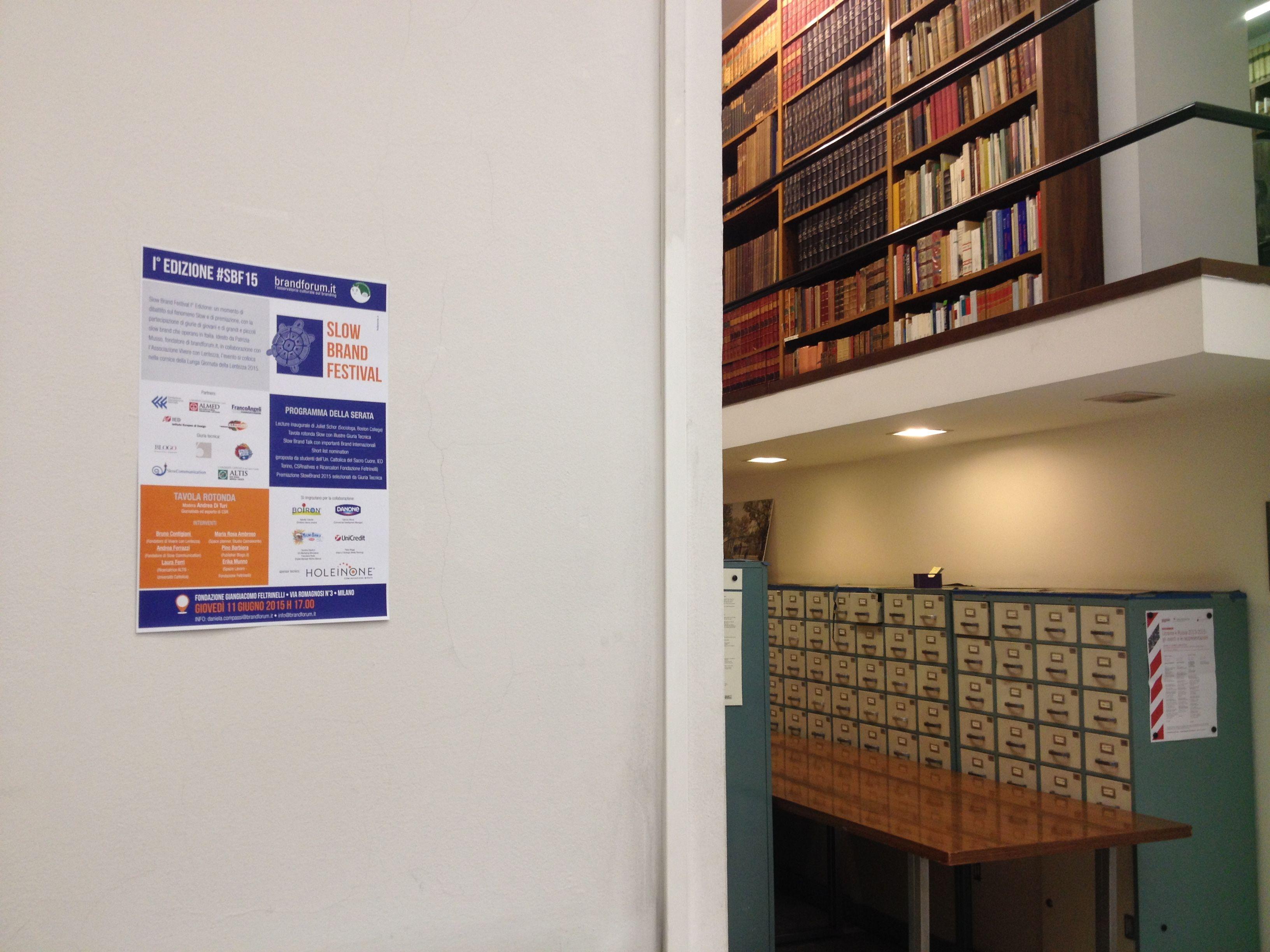 #SBF15 @Fondazione G. Feltrinelli a Milano Programma: http://brandforum.it/papers/1359/sbf-programma-dell-evento