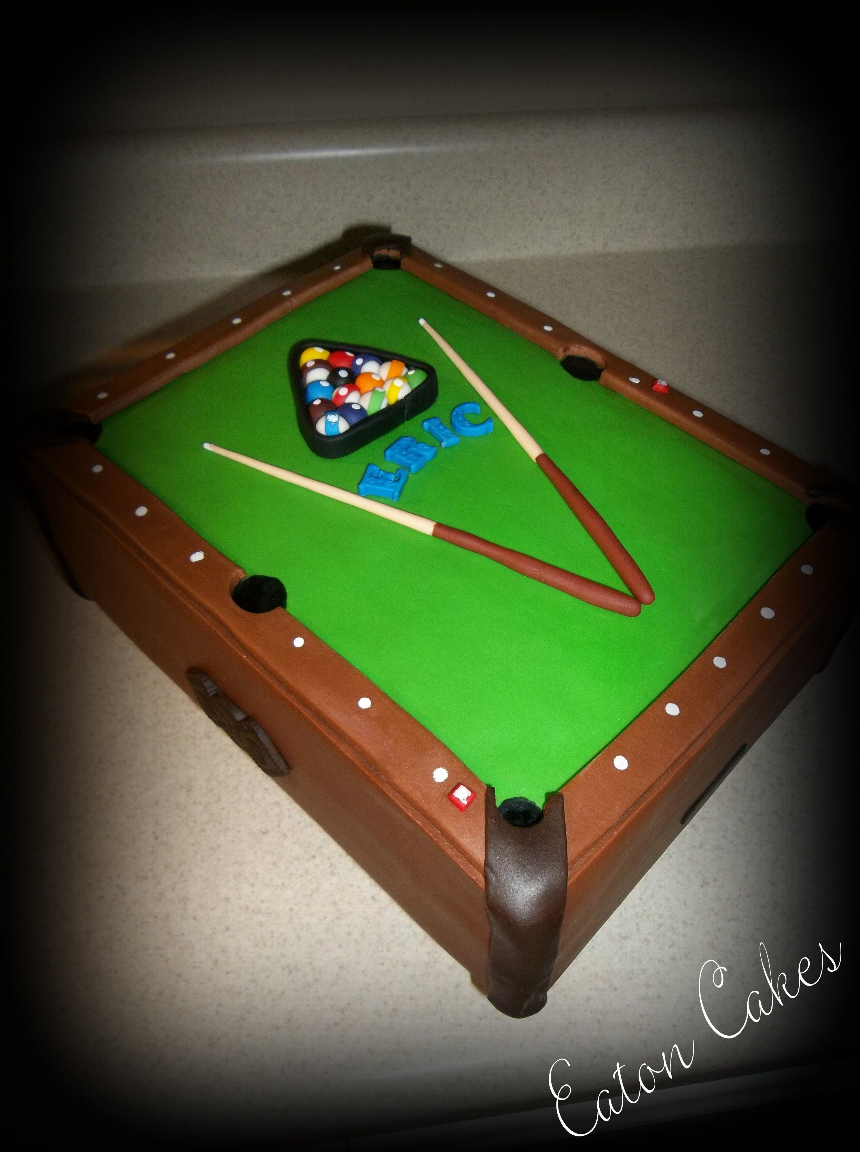 Pool table cake Cakes! & cupcakes :) Pinterest Pool ...