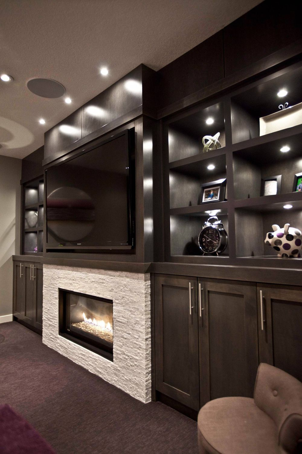 Basement Living room Wall Home cinema Furniture Interior design