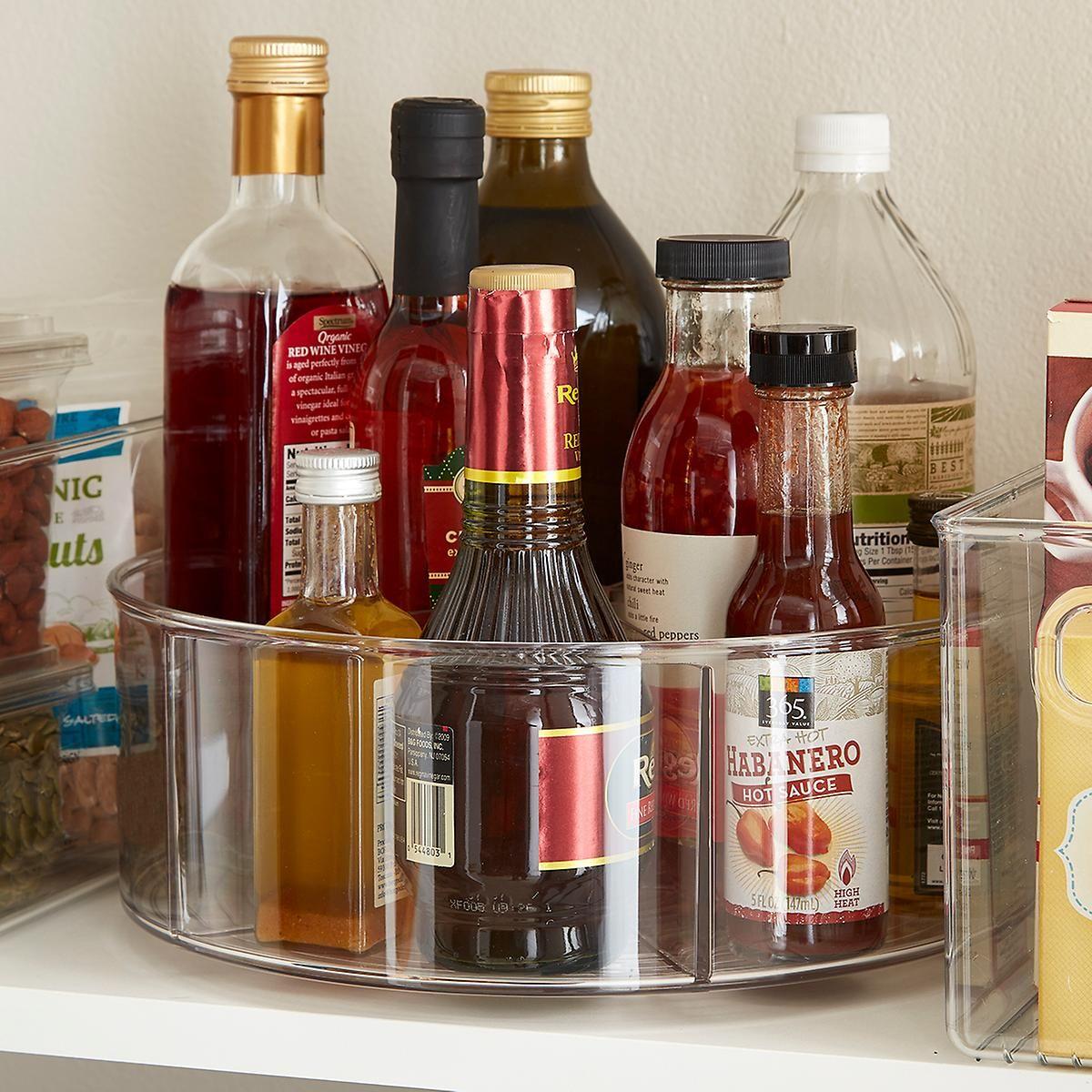 Idesign Linus Divided Lazy Susans Diy Kitchen Storage Spice Storage Pantry Storage