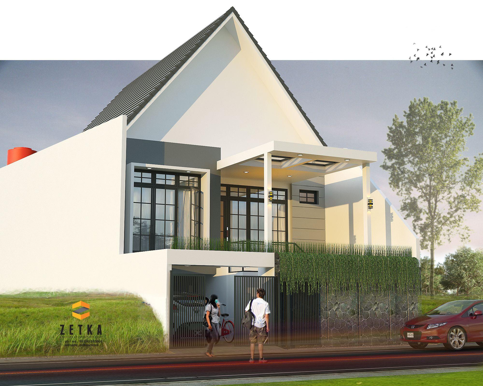 rumah 1 lantai namun dengan tanah yang tinggi mampu untuk